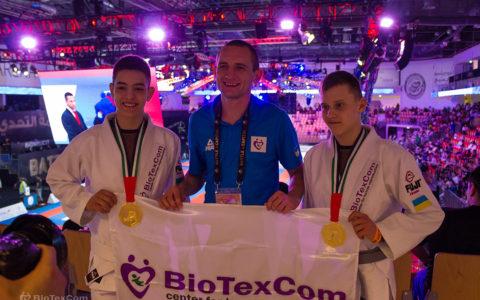 The Biotexcom team has three world champions in Brazilian Jiu-Jitsu