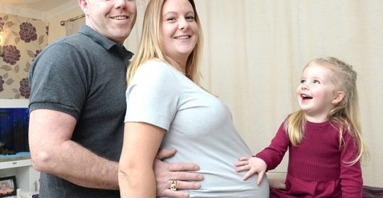 Mother is expecting two sets of identical twin girls