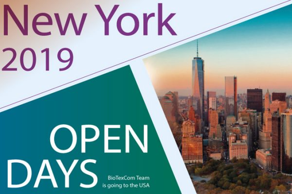 BioTexCom Open Days in NEW YORK 2019