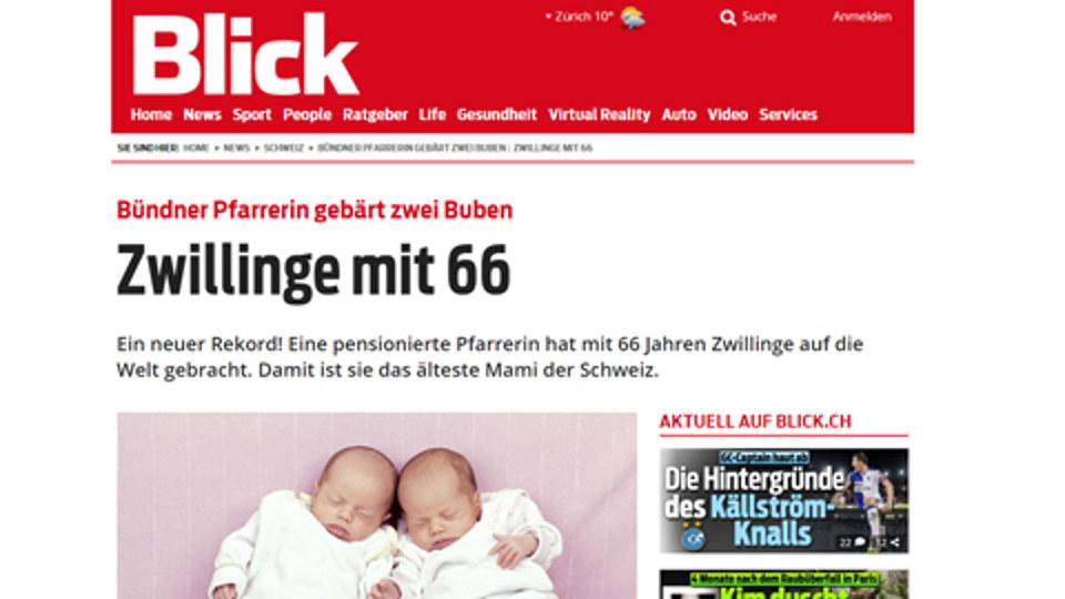 Zwillinge mit 66