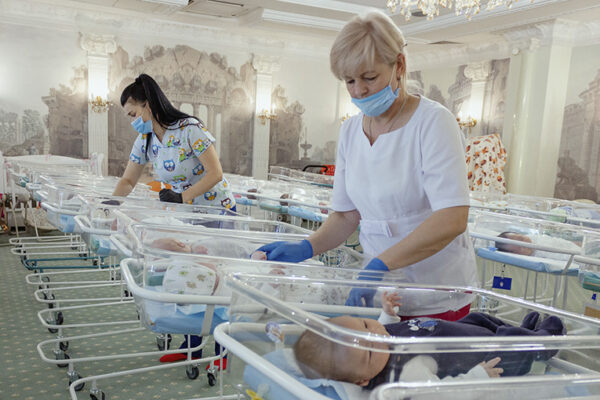 Dozens of surrogate babies stranded in Ukraine amid lockdown
