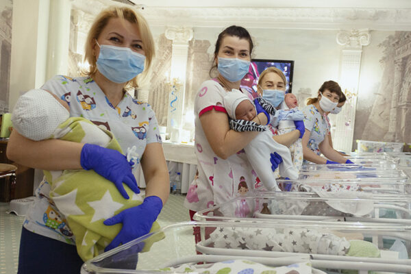 Nearly 50 surrogate babies crammed into Ukraine hotel amid coronavirus